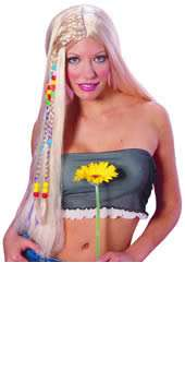 Hippie Long Blonde Wig