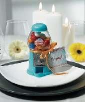 Favor Mini Gumball Machine Blue
