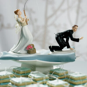 Cake Topper Gone Fishing bride