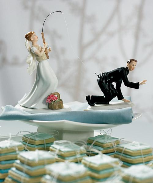Cake Topper Gone fishing groom