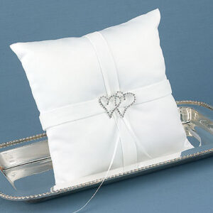"""With All My Heart"" White Pillow"