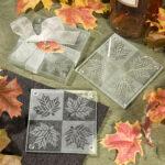 Coasters Glass Leaf