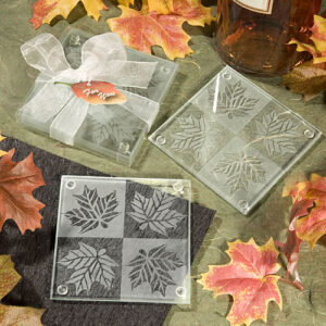 Coasters Glass Leaf