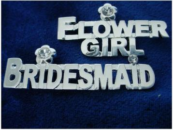 Bridal Party Pin - Bridesmaid