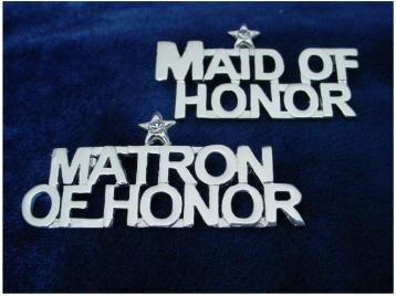 Bridal Party Pin - Maid of Honor