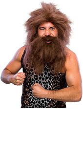 Caveman Pre-Historic Wig and Beard