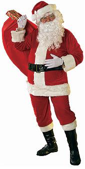Santa Suit Velour - XXL