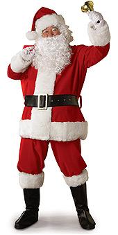 Regency Plush Santa Suit - Standard