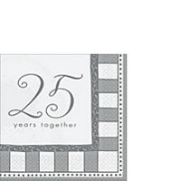 25th Anniversary Tableware Beverage Napkins