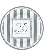 25th Anniversary Tableware Dessert Plates