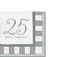 25th Anniversary Tableware Lunch Napkins