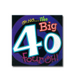 Oh No Big 40 Beverage Napkins