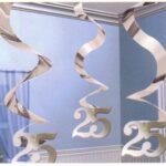 25th Anniversary Decor - Hanging Swirl
