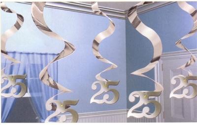 25th Anniversary Decor – Hanging Swirl