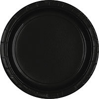 Tableware Black Paper Plates - Lunch 24ct
