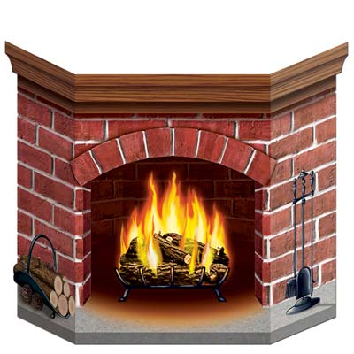 A Fireplace Photo Prop