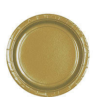 Tableware Gold  Paper Plates - Lunch