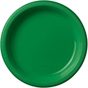 Tableware Green Plastic Dinner Plates 10 in