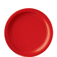 Tableware Red Paper Plates 9in 20ct