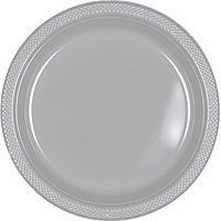 Tableware Silver Plastic Plates - 10 1/2 in 20ct