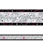 16 Sweet 16 Sparkle Banner - Large Sign