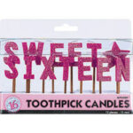 Sweet Sixteen – Toothpick Candles