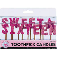 Sweet Sixteen - Toothpick Candles