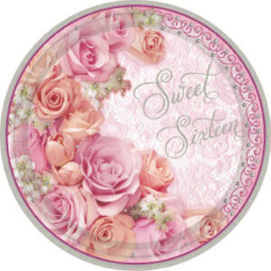 "16 Blossom Sweet Sixteen 9"" Plates 18ct"