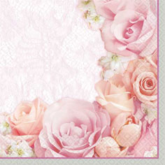 16 Blossom  Beverage Napkins 36ct