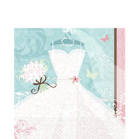 Tableware Bridal Shower Something Blue Napkins 36ct