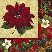 Christmas  Botanical Dinner Napkins