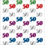 A Year 50th Birthday – String Decoration
