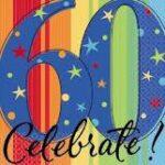 A Year 60th Birthday Beverage Napkins