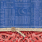 Tableware Bandana Ranch Beverage Napkins