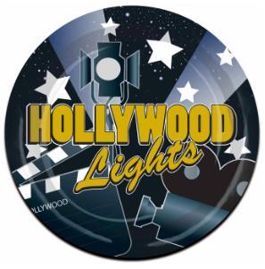 "Hollywood Lights Plates 9"""