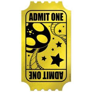 Hollywood Foil Golden Ticket