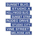 Cutouts Hollywood Street Signs