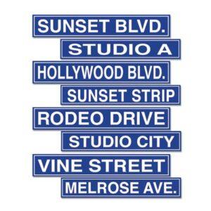 Cutouts Hollywood Street Signs
