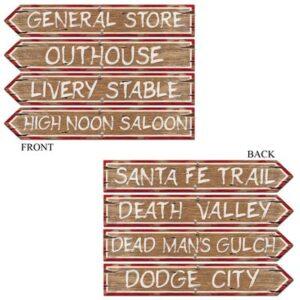 Cutout Western Sign (4/pkg)