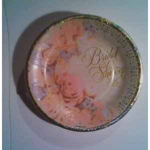 Tableware Bridal Shower Dazzling Rosegold  Plates
