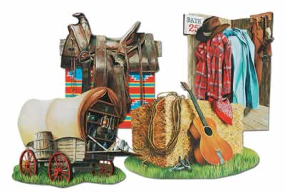 Cowboy Cutouts (4/pkg)