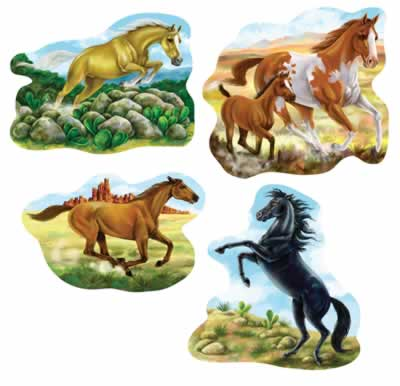 Barn Cutout Horse  4ct