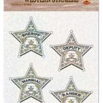 Cowboy Sherriff Badge Stickers