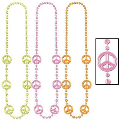 60's Peace Sign Beads