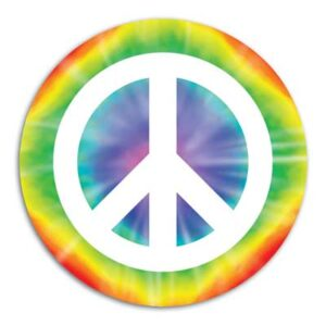 60's Cutout Peace Sign 13.5in