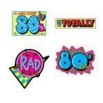 80's Theme Cutouts 4ct