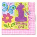 1st Birthday Hugs & Stitches Lunch Napkins