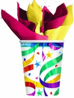 Party  Streamers Paper Cups