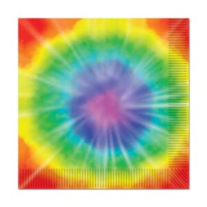 60's Tableware Tie Dyed  Luncheon  Napkins