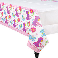 1st Birthday Hugs & Stitches Table Cover
